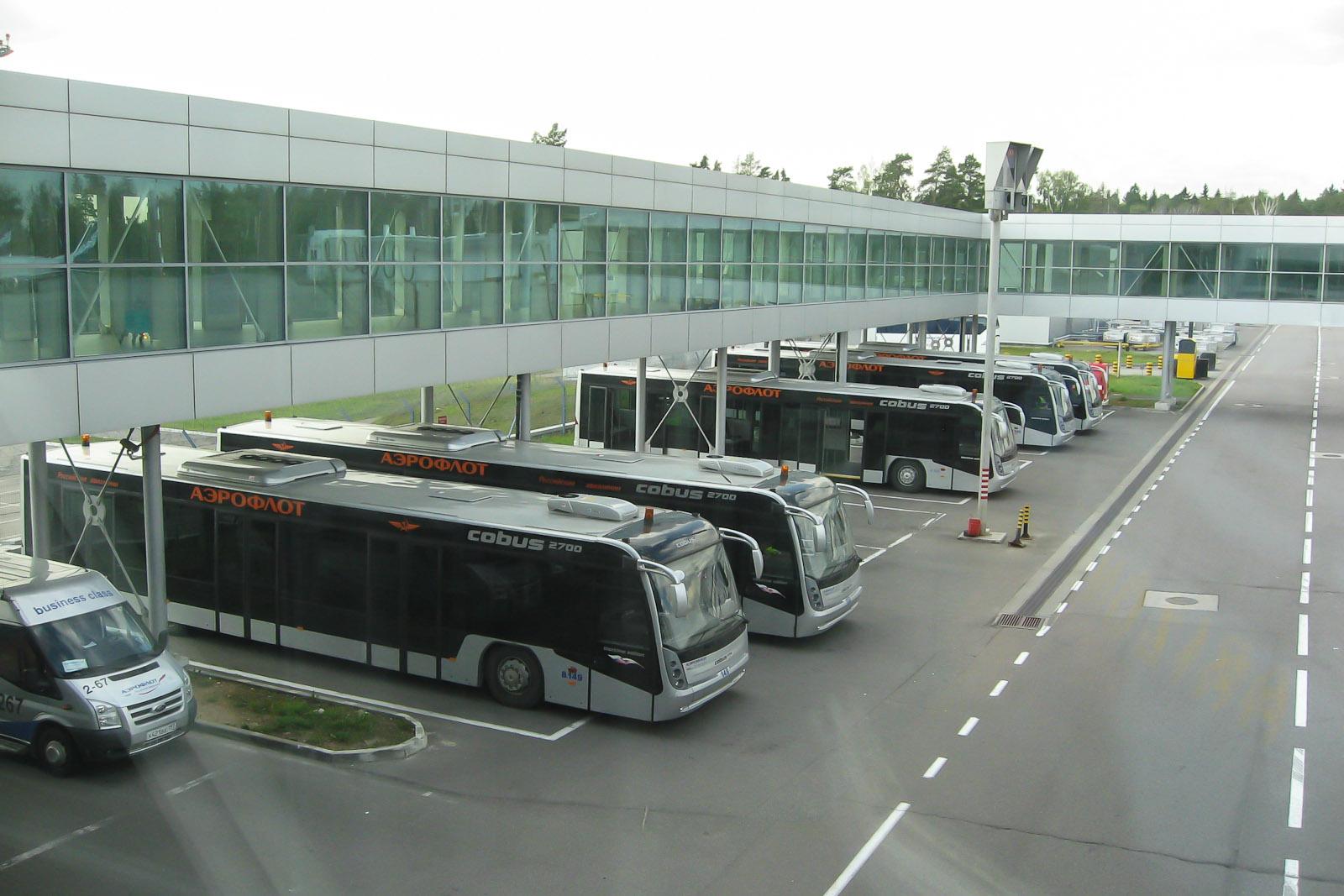 Автобусы для перевозки пассажиров в аэропорту Шереметьево