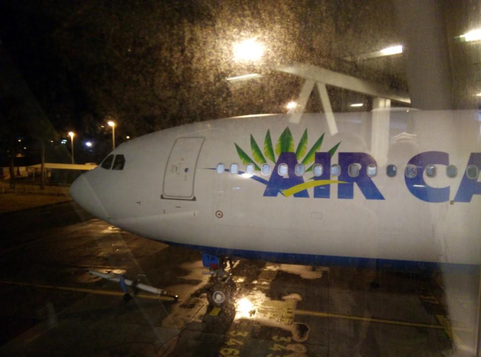 Посадка в самолет Airbus A330-300 авиакомпании Air Caraibes