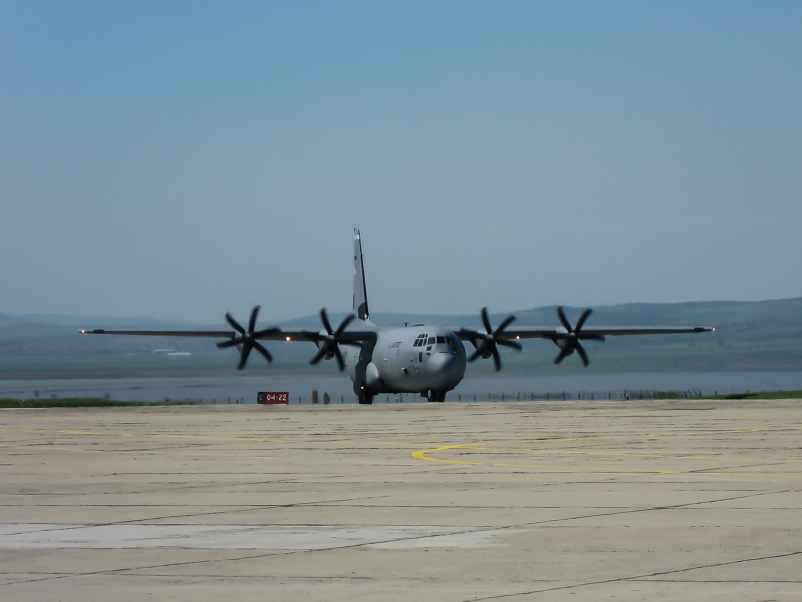 C-130 Hercules at the Burgas airport