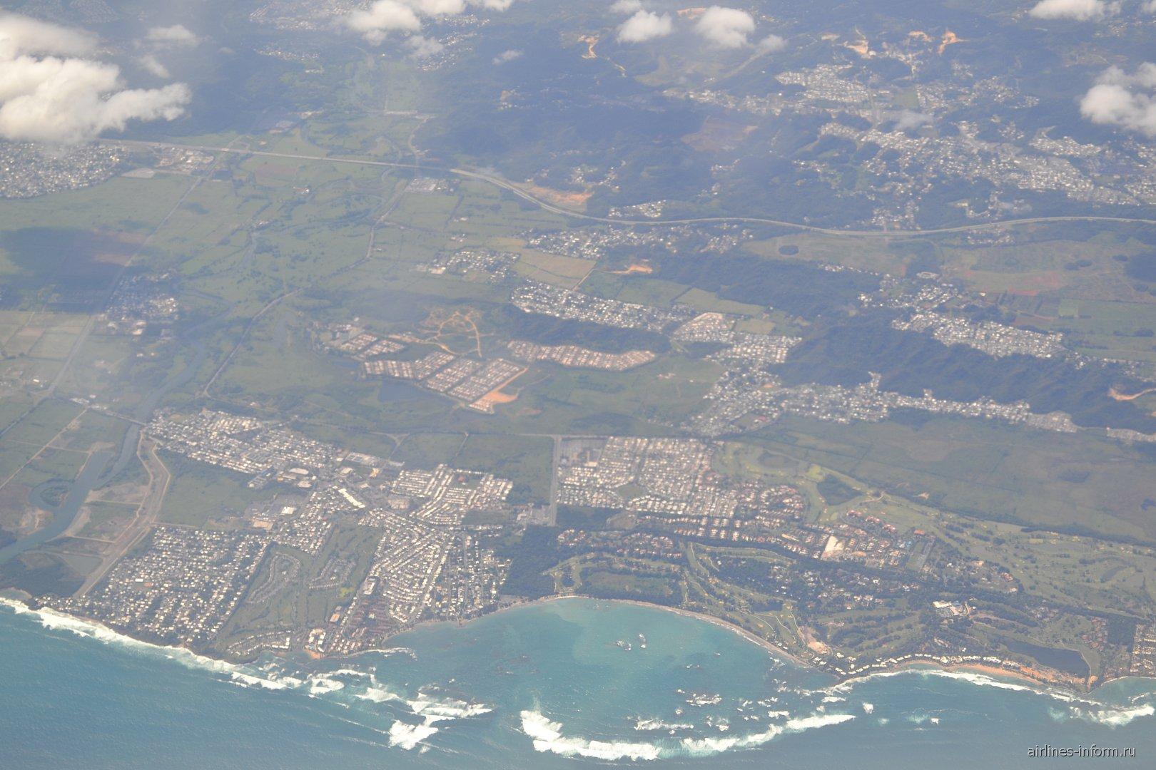 В полете над Пуэрто-Рико
