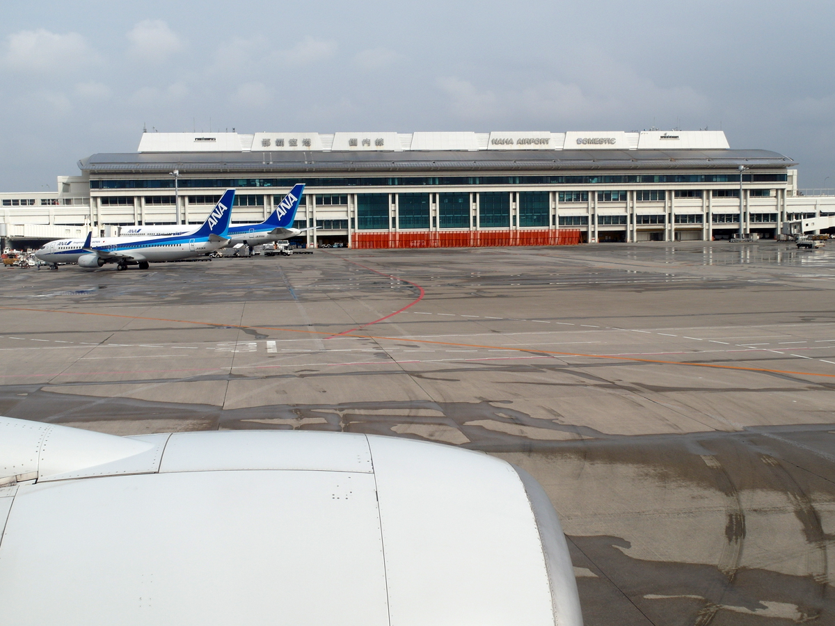 Терминал внутренних авиалиний аэропорта Наха на острове Окинава