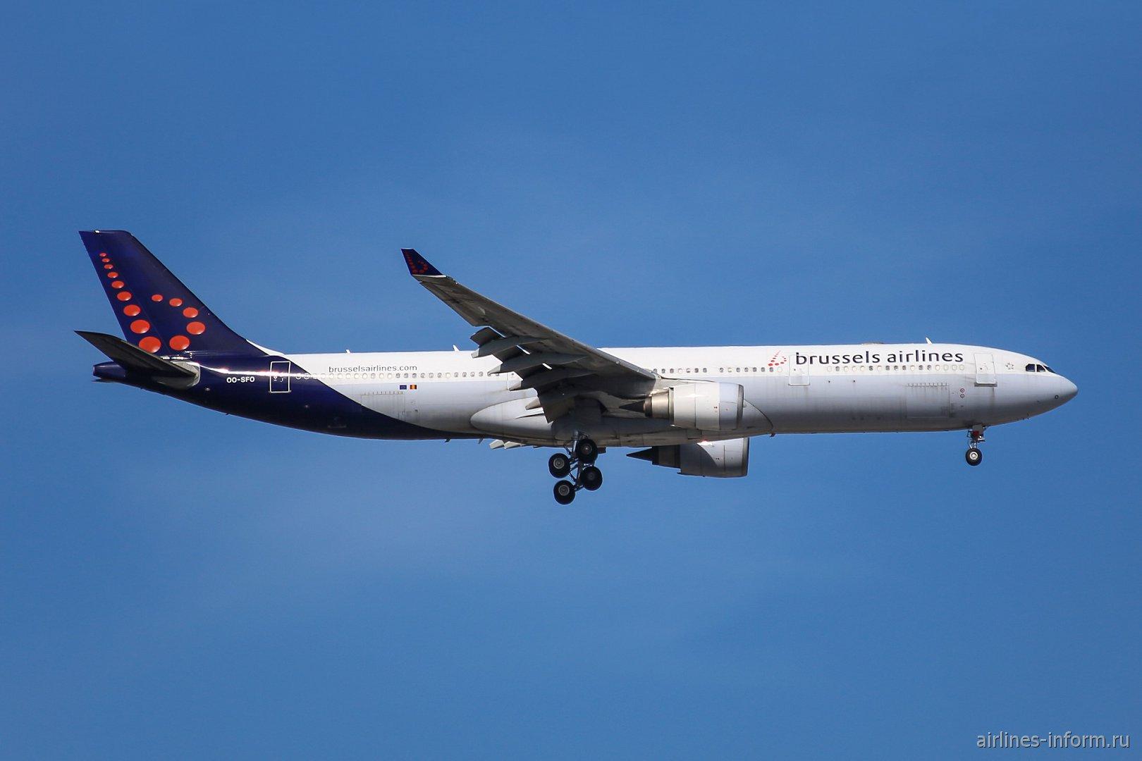 Airbus A330-300 OO-SFO авиакомпании Brussels Airlines