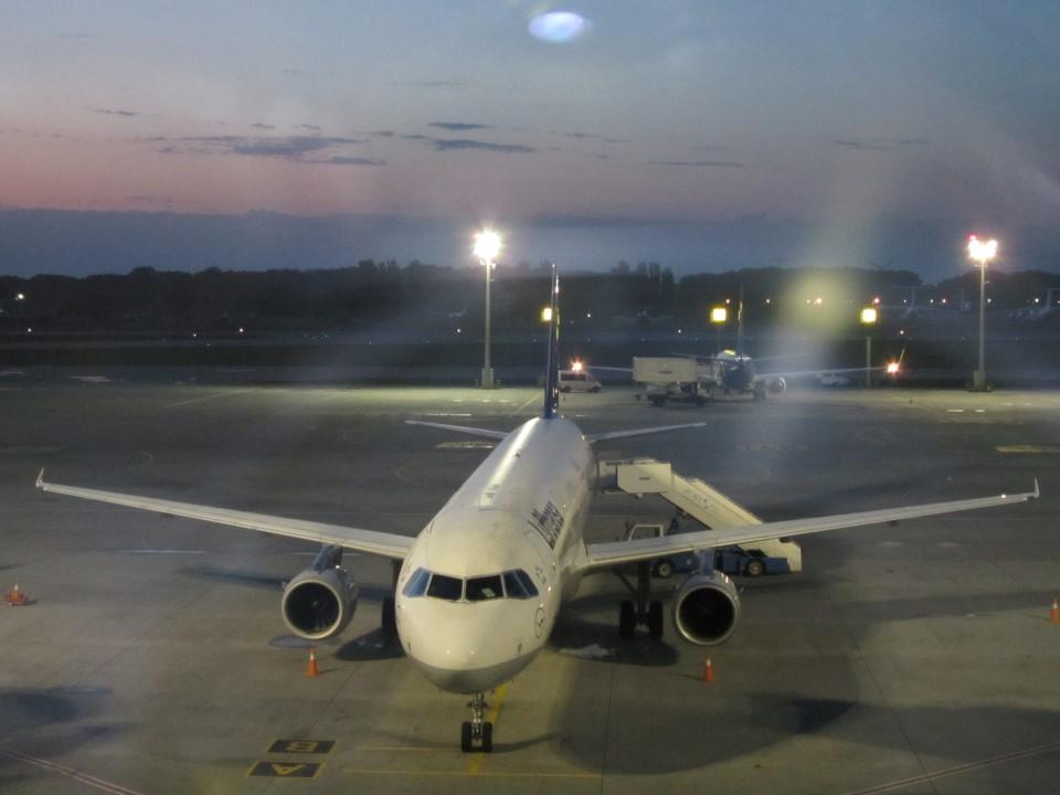 А321 Люфтганза в аэропорту Борисполь