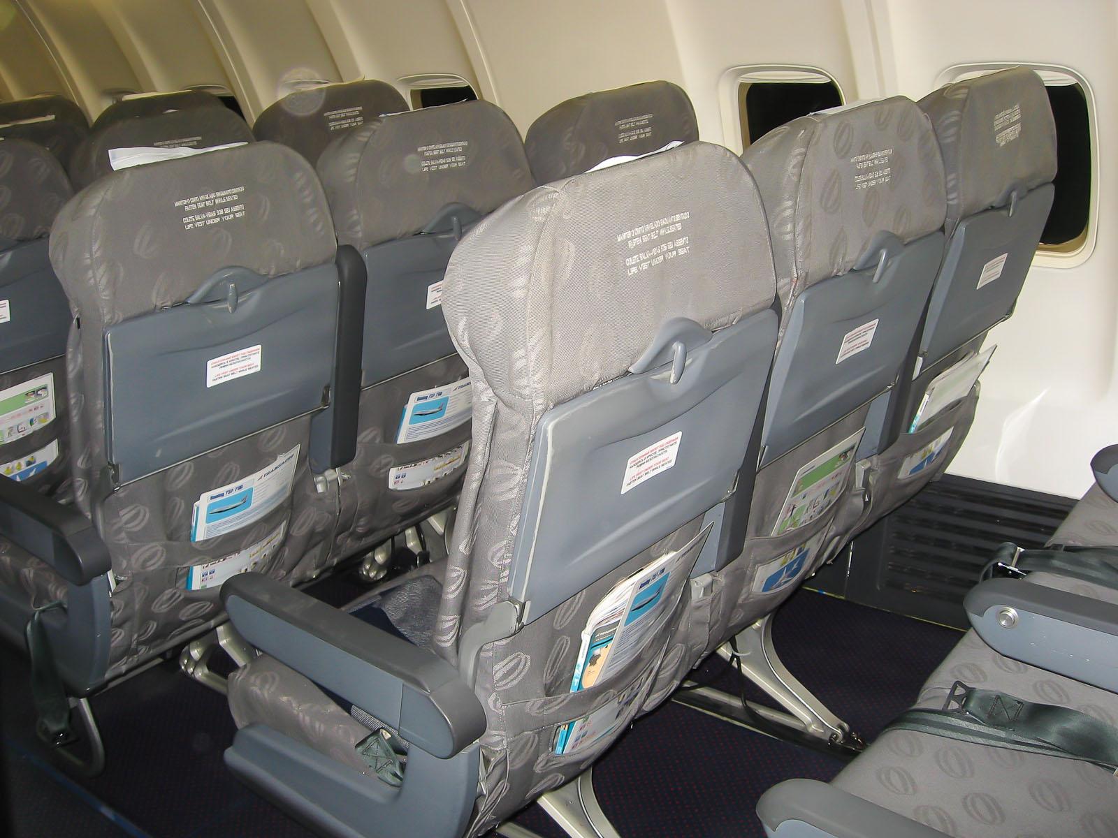 Экономический класс в самолете Боинг-737-700 авиакомпании Трансаэро