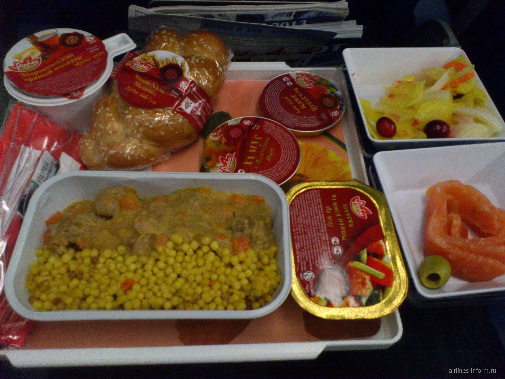 Питание на рейсе авиакомпании Аэрофлот Москва-Дубаи