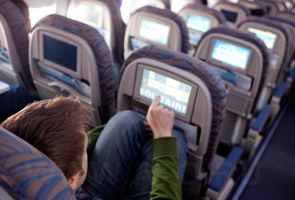 Inflight entertainment of Boeing 737-800 Flydubai