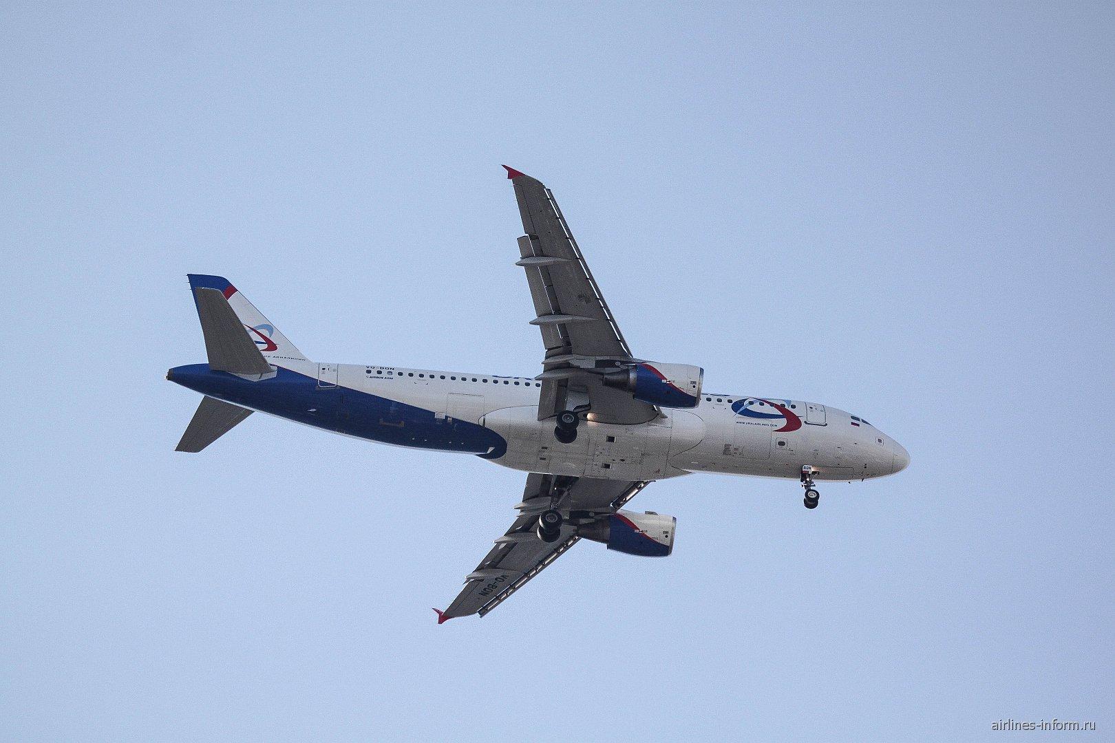 Омск-Москва с Уральскими Авиалиниями, Airbus A320, VQ-BQN