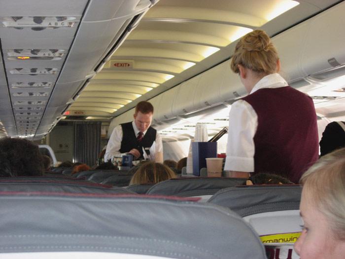 Обслуживание на рейсе Берлин-Москва Germanwings