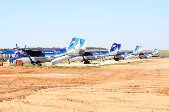 Ан-28 Регион-Авиа в аэропорту Маган в Якутске