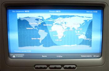 Онлайн-карта полета в самолете Airbus A330-300 Аэрофлота