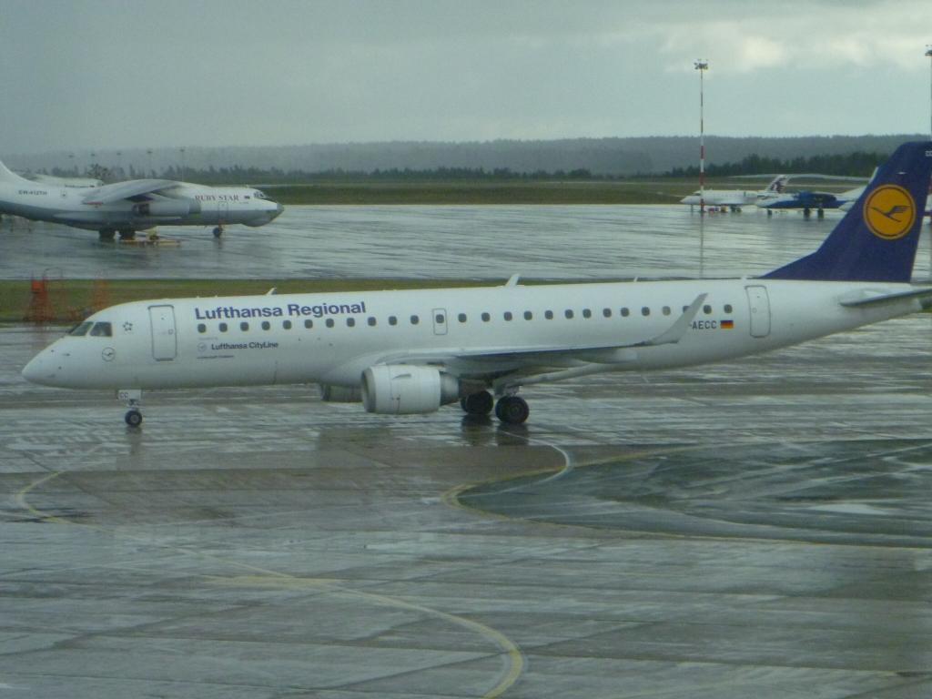 Путешествие по Европе. Часть 1.  Минск-Франкфурт на Майне на Embraer ERJ-190LR Lufthansa CityLine
