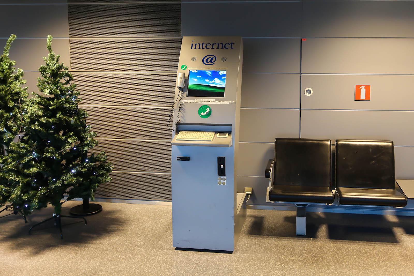 Киоск доступа в интернет в аэропорту Хельсинки
