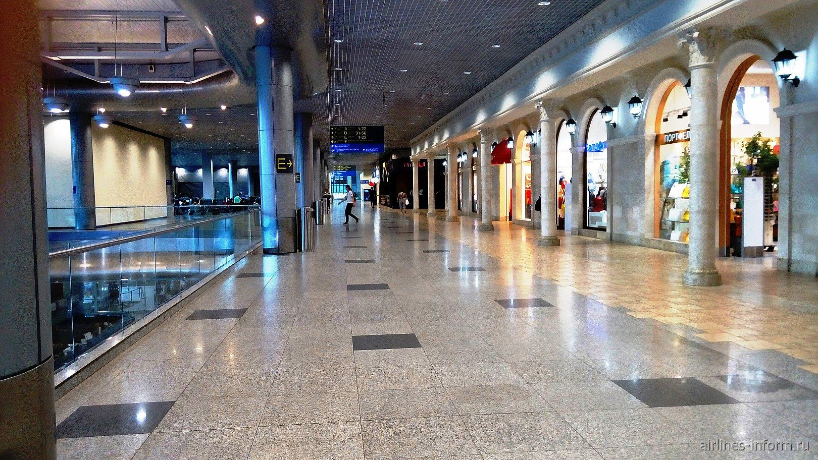 На втором этаже аэровокзала аэропорта Домодедово