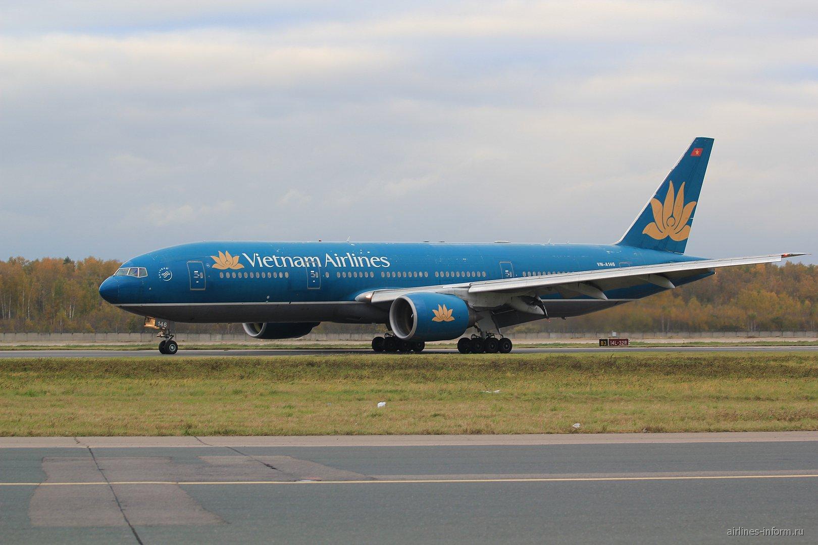 Боинг-777-200 Вьетнамских авиалиний в аэропорту Домодедово