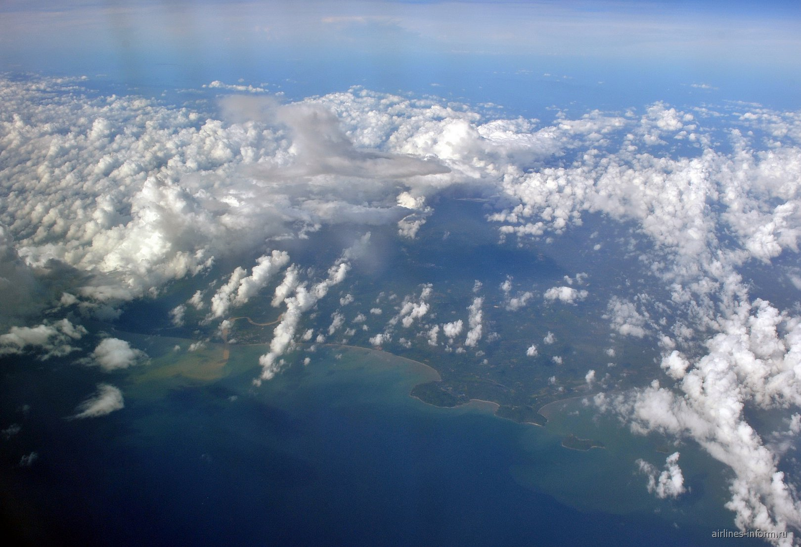 Облака над побережьем Сиамского залива