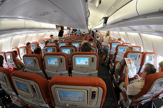 Economy class in Airbus A330-200