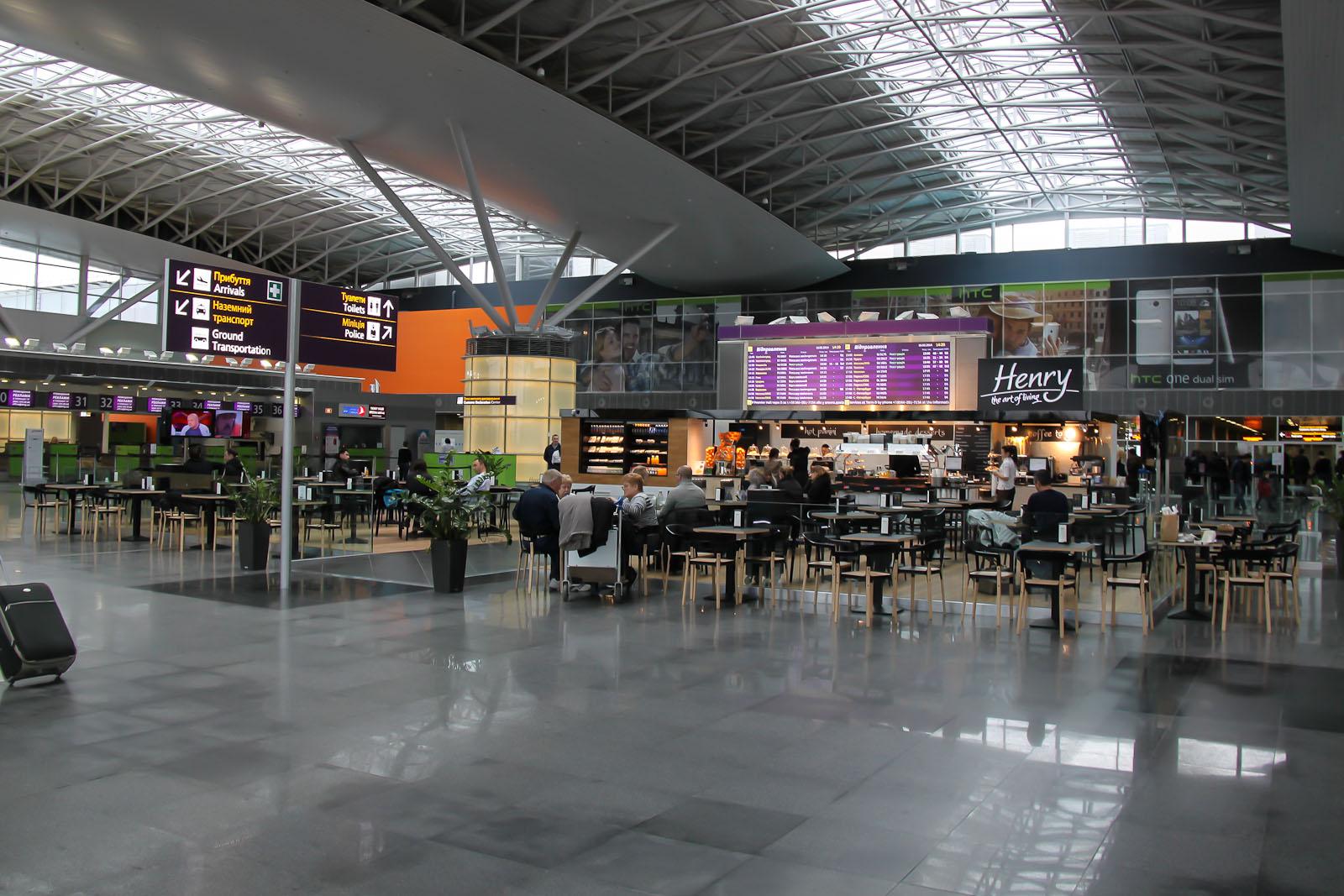 В Терминале Д аэропорта Борисполь