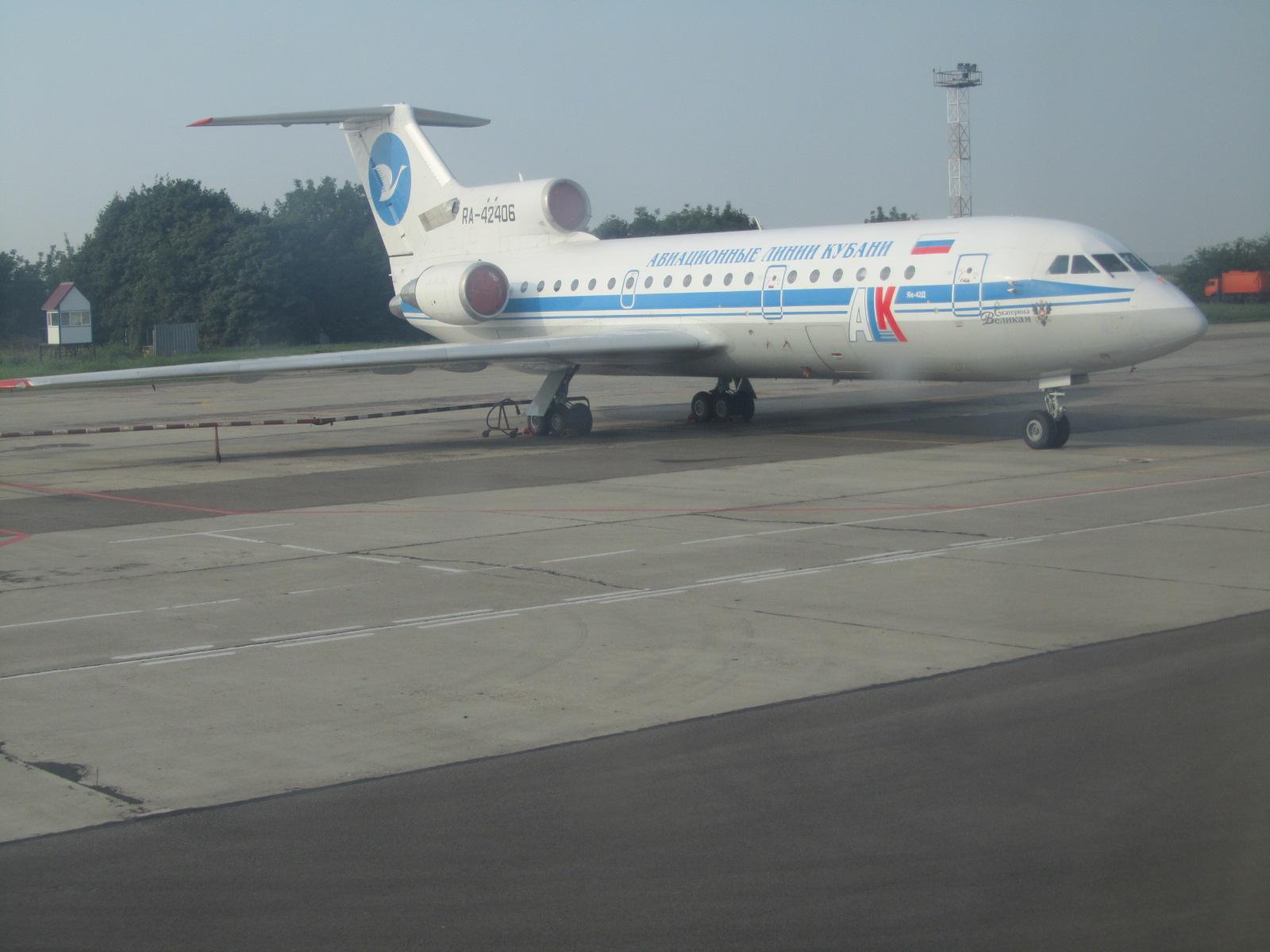 Як-42 авиакомпании Кубань в аэропорту Краснодар