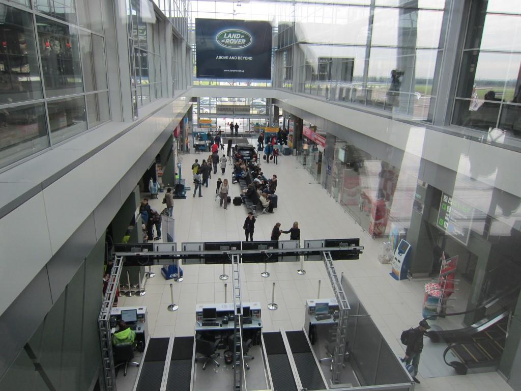В терминале А аэропорта Киев Жуляны