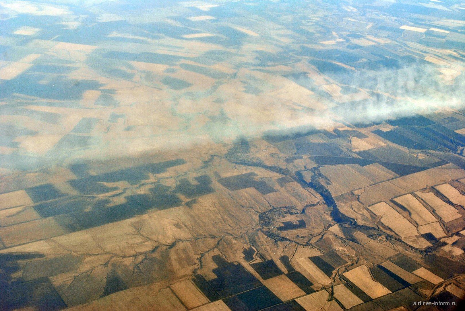 В полете над Воронежской областью России
