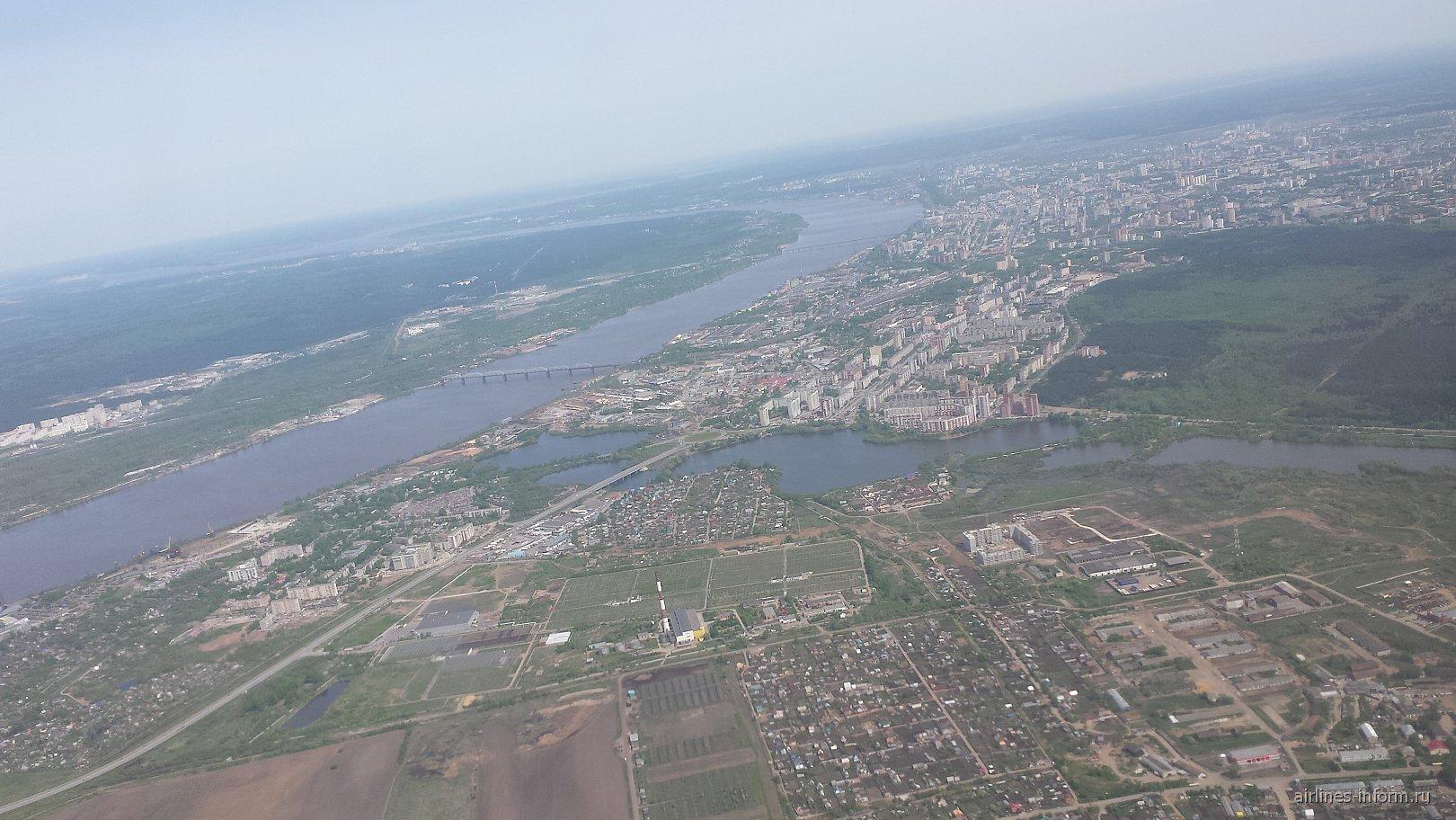 Вид на Пермь из самолета
