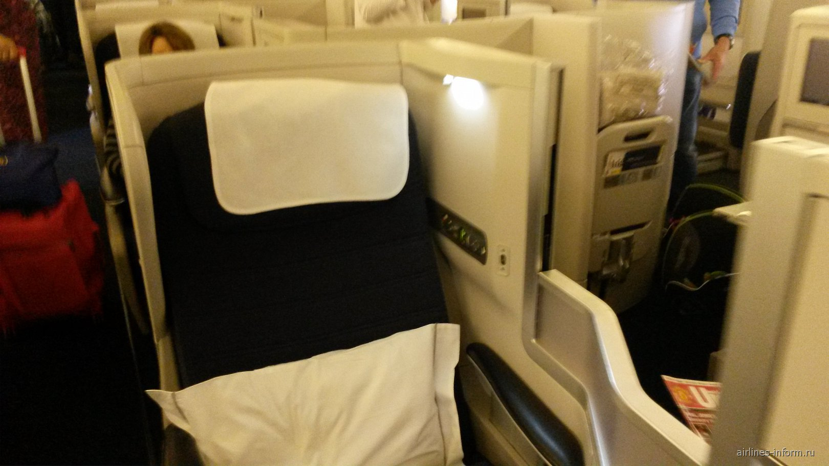 Салон самолета Боинг-747-400 Британских авиалиний