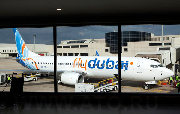 Boeing 737-800 of Flydubai in Beirut airport