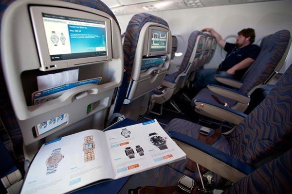 Passenger cabin of Boeing 737-800 Flydubai