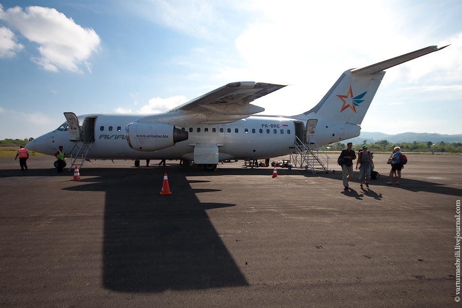 BAe 146 aircraft in Labuan Bajo airport
