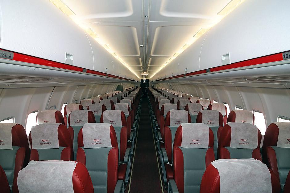 Passenger cabin of Tupolev Tu-204
