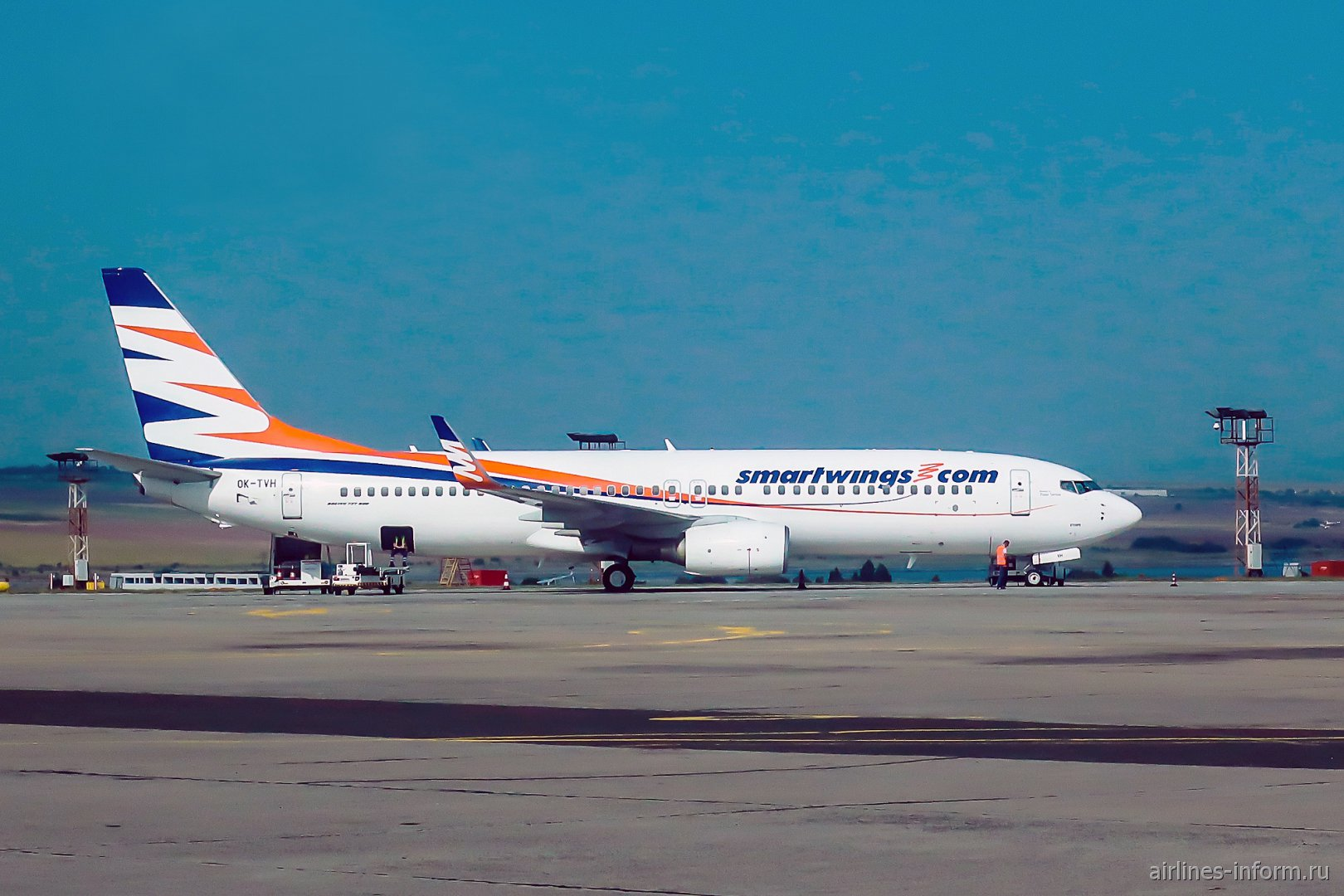 Авиалайнер Боинг-737-800 OK-TVH чешской авиакомпании Smartwings