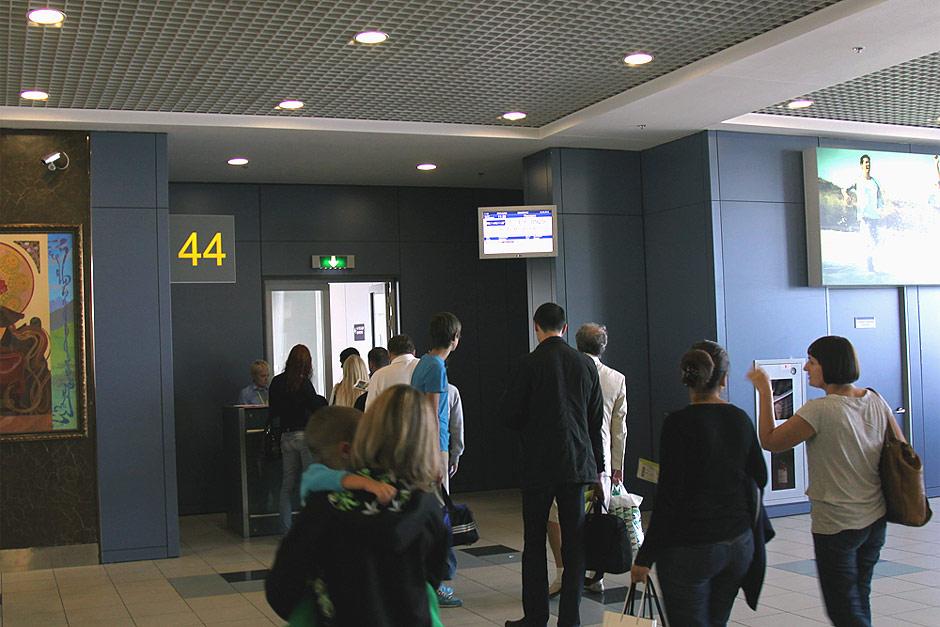 Посадка на рейс Москва-Красноярск авиакомпании S7 Airlines