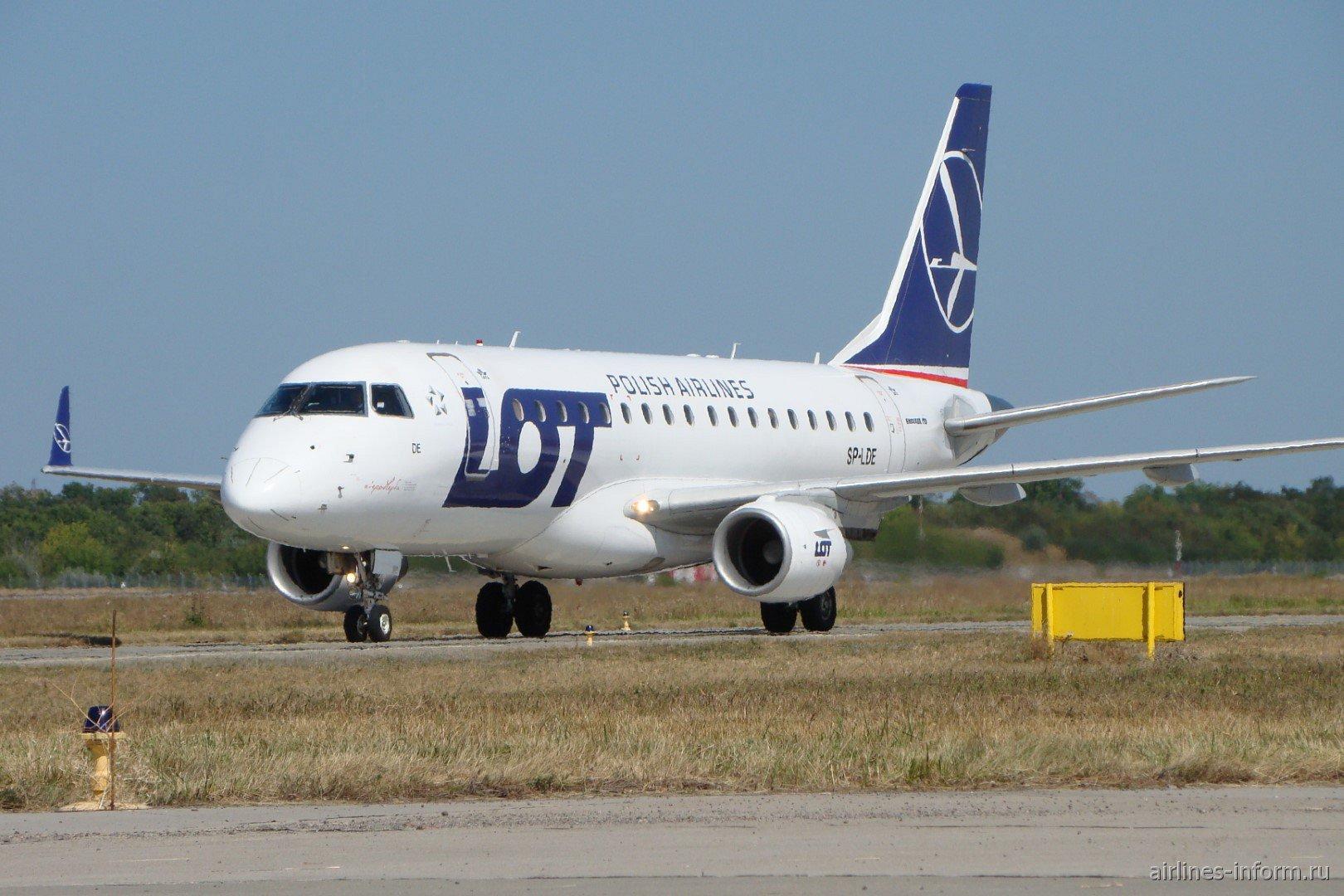 Embraer 170 SP-LDE авиакомпании LOT Polish Airlines в аэропорту Харьков