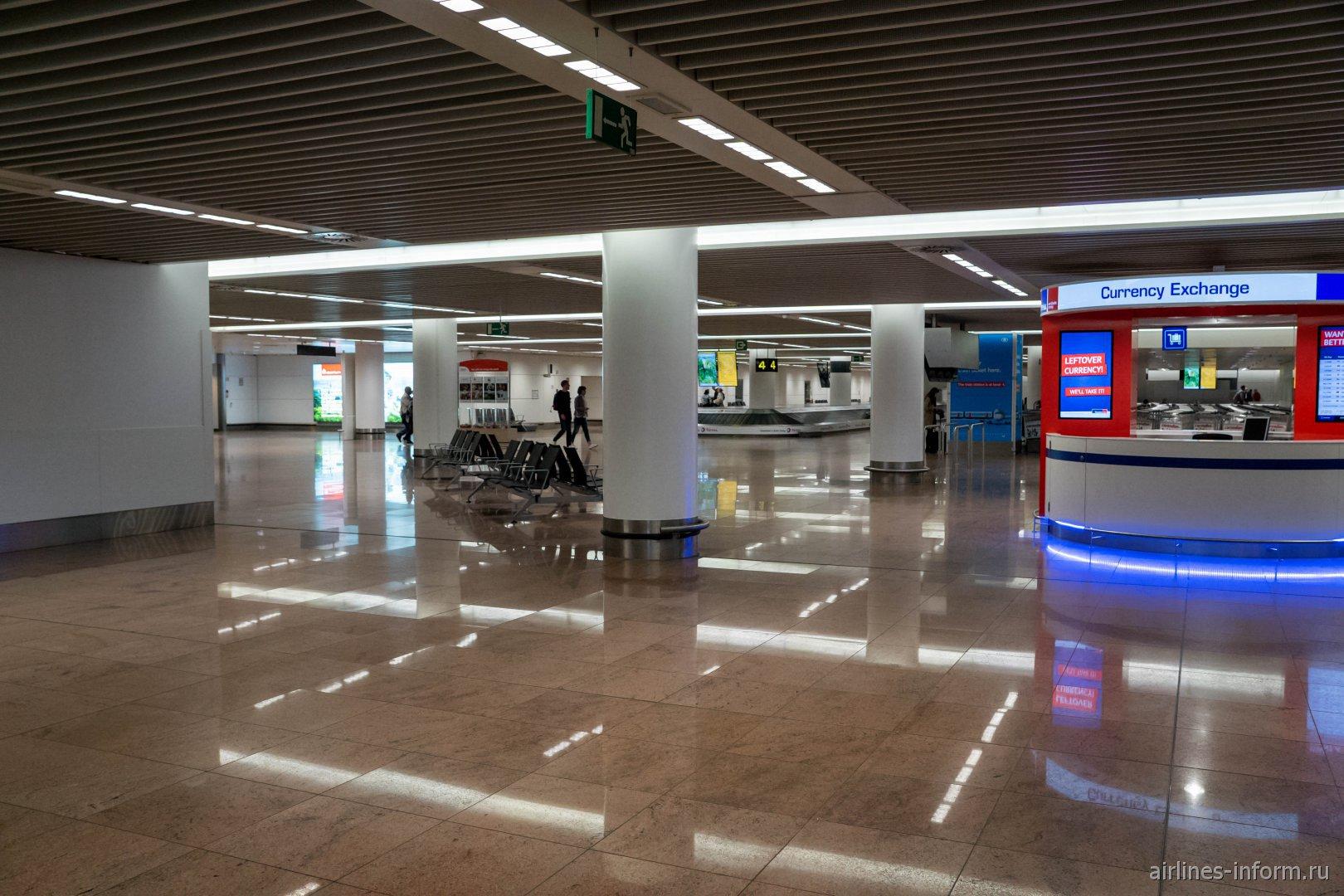 Зона выдачи багажа в аэропорту Брюссель