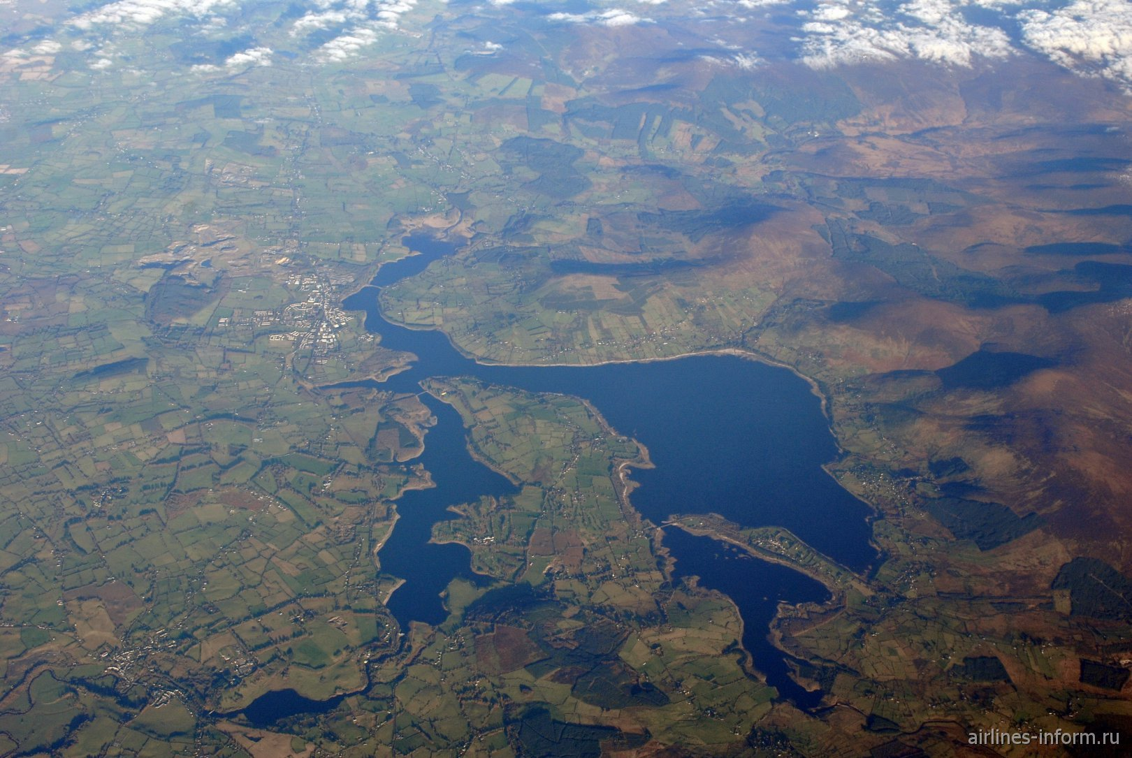 Водохранилище Poulaphouca на реке Liffey в Ирландии