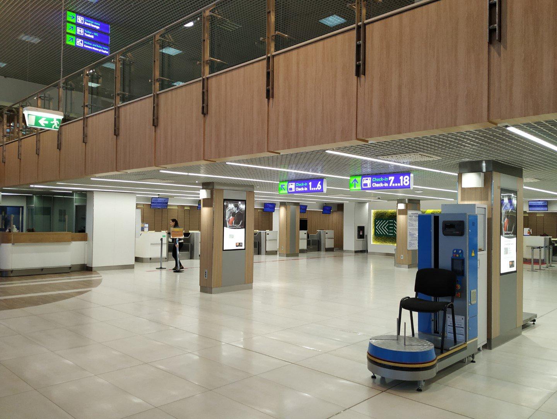 Зона регистрации на вылетающие рейсы в аэропорту Кишинев