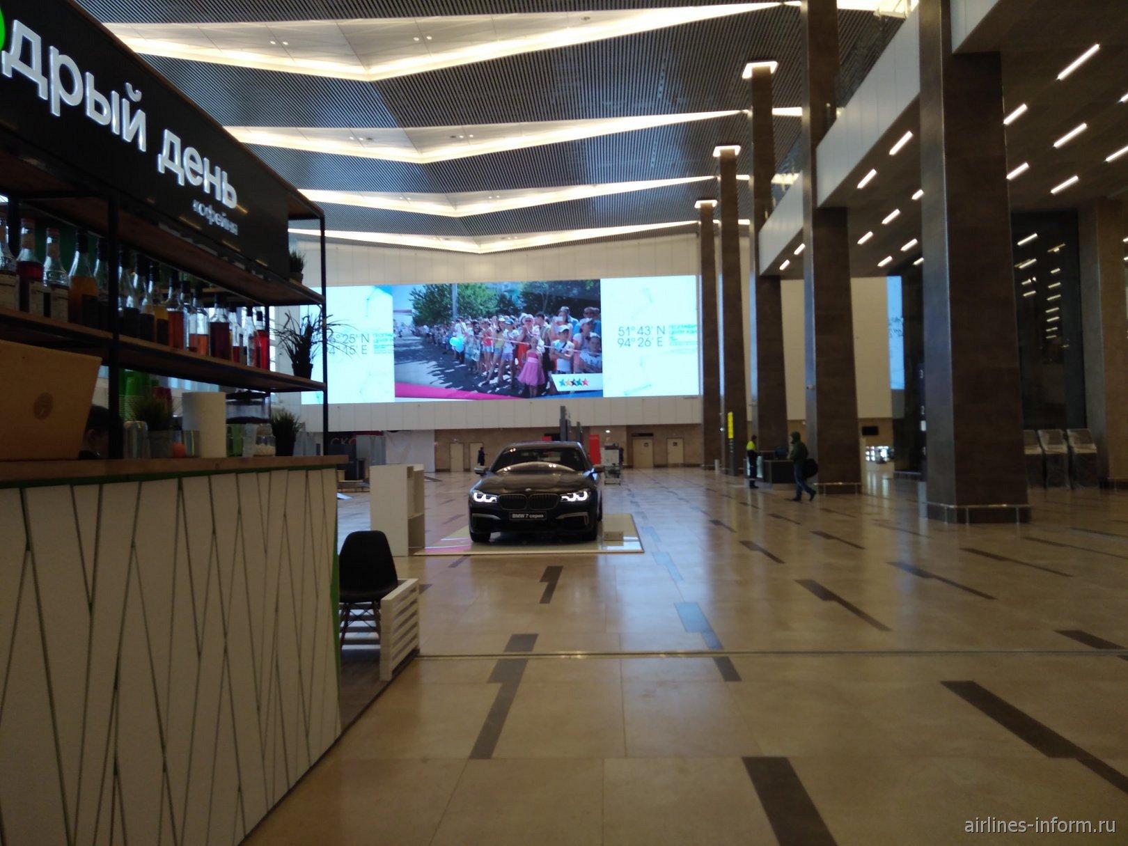 В новом пассажирском терминале аэропорта Красноярск Емельяново