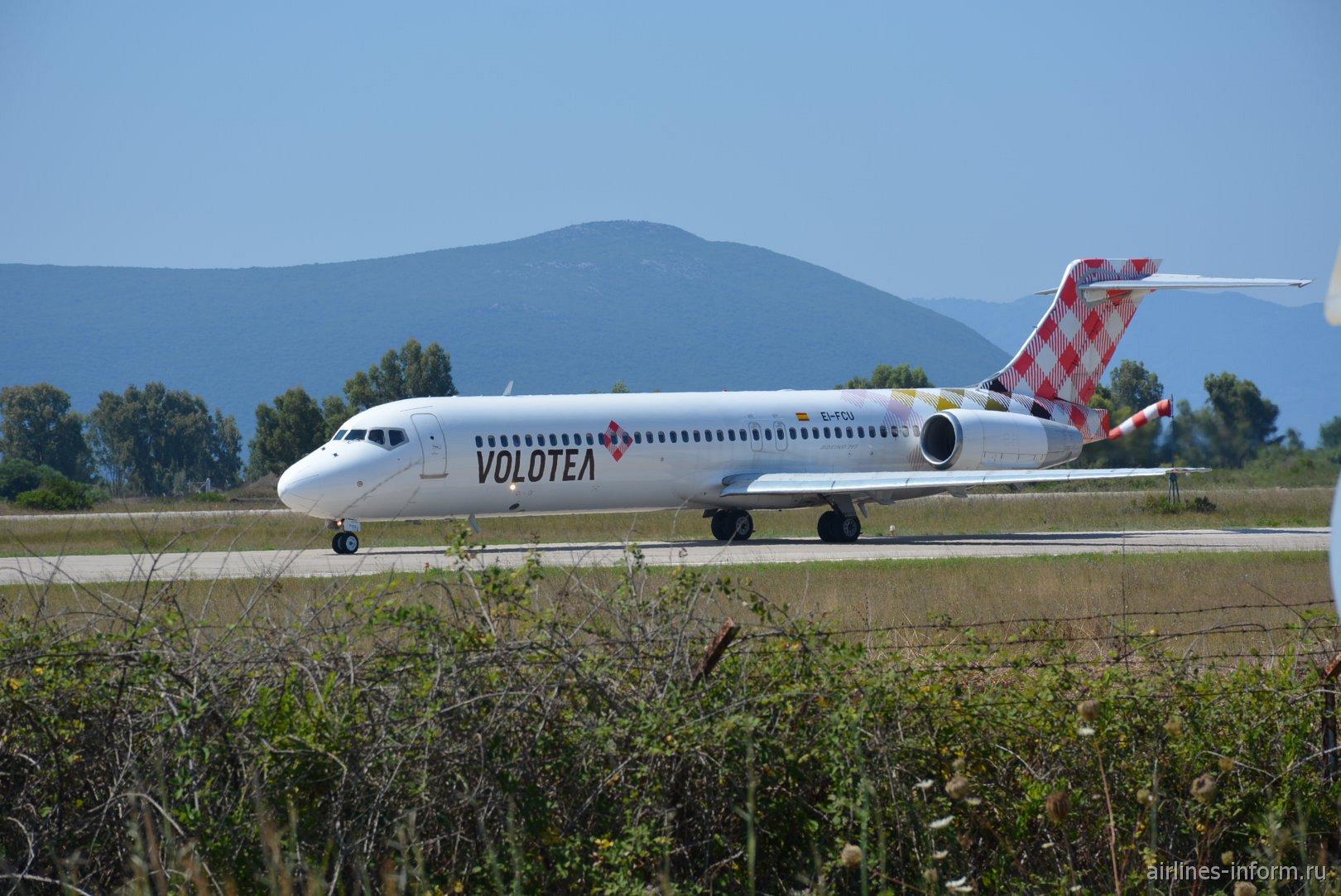 Самолет Боинг-717 авиакомпании Volotea в аэропорту Превеза