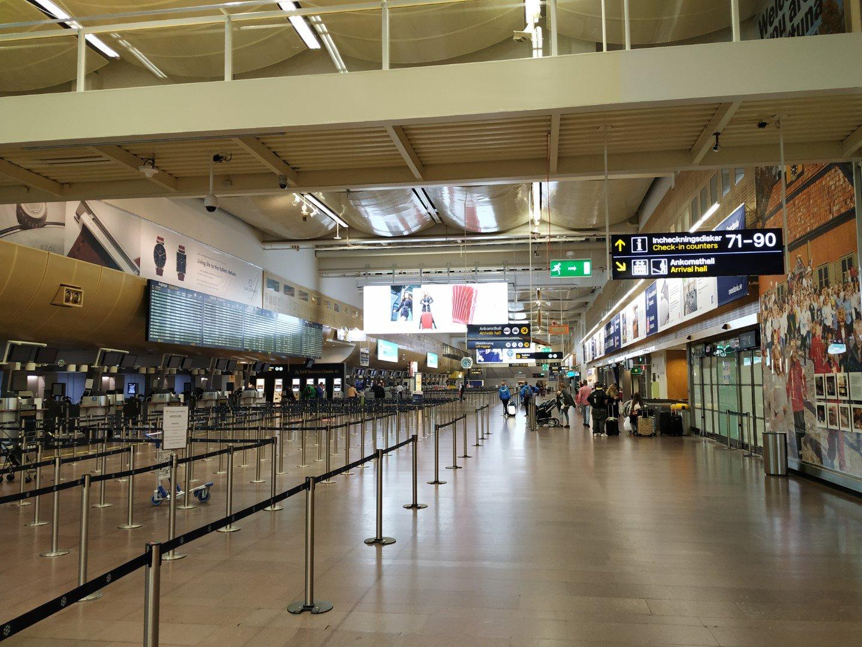 Зал регистрации в терминале 5 аэропорта Стокгольм Арланда