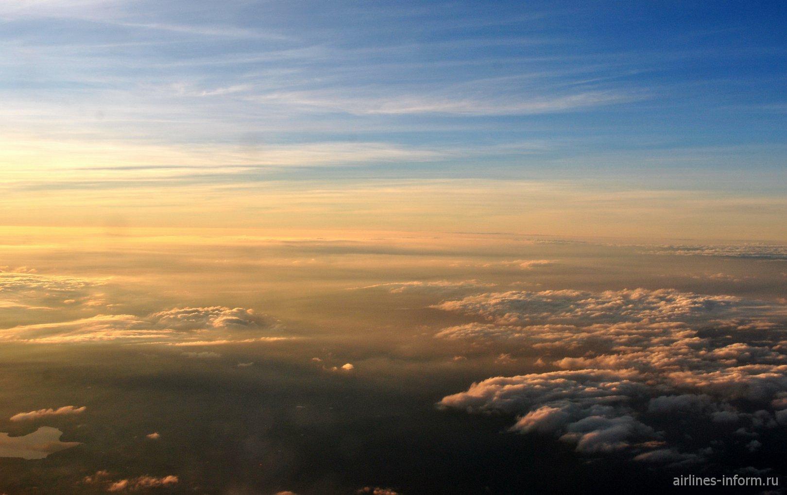 Вечерние облака над Мексикой