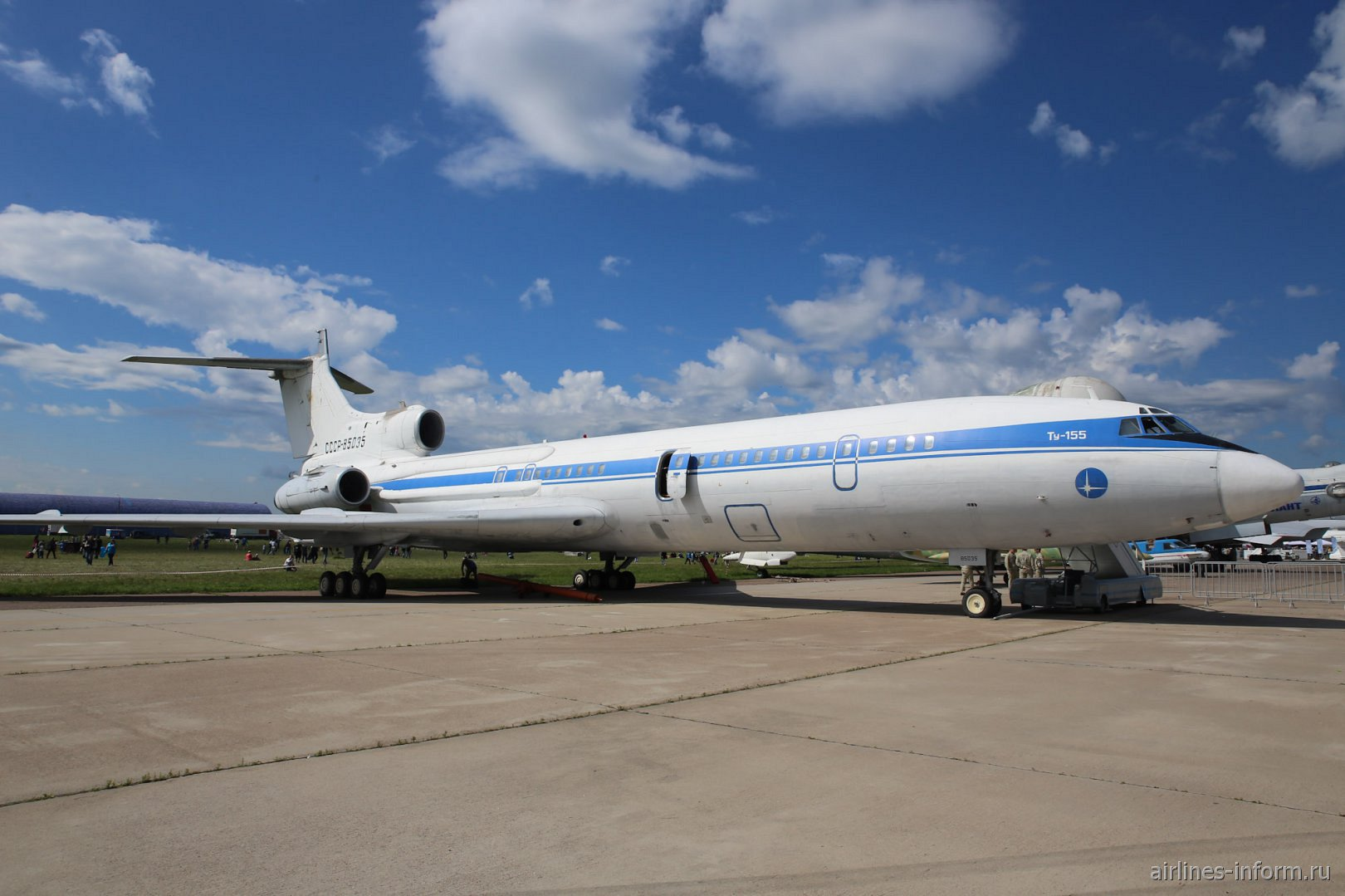 Самолет Ту-155 на авиасалоне МАКС-2017