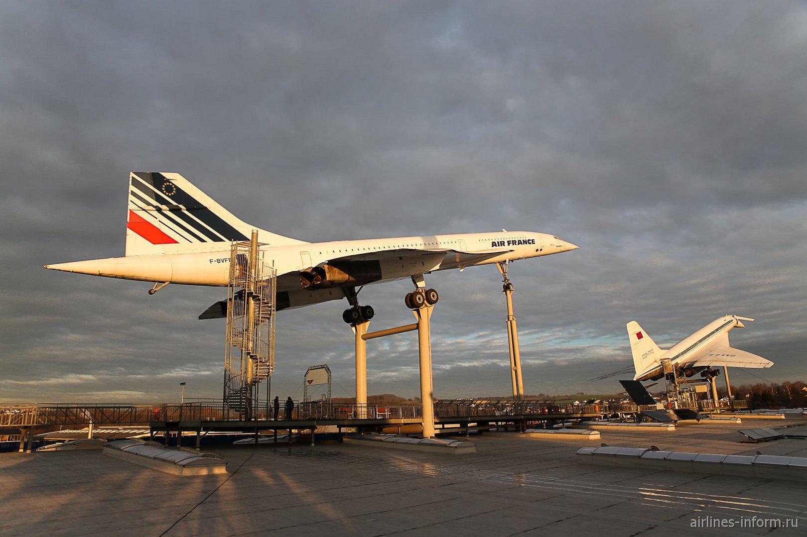 Конкорд и Ту-144 в музее техники в Зинсхайме