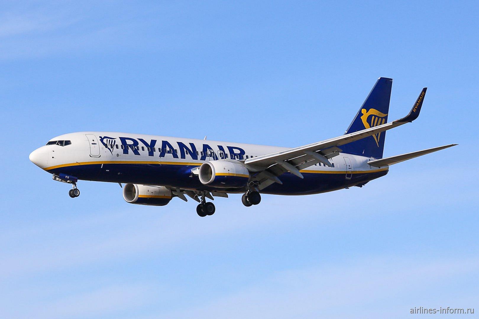 В небе Боинг-737-800 EI-FIY авиакомпании Ryanair