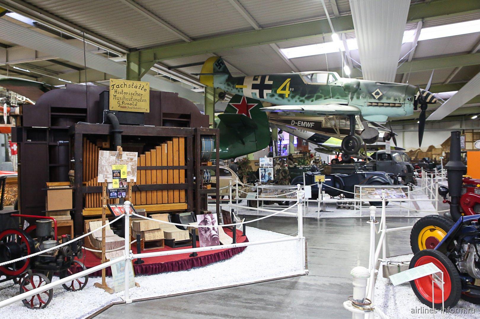 Истребитель Мессершмитт-109 в павильоне 2 музея техники в Зинсхайме