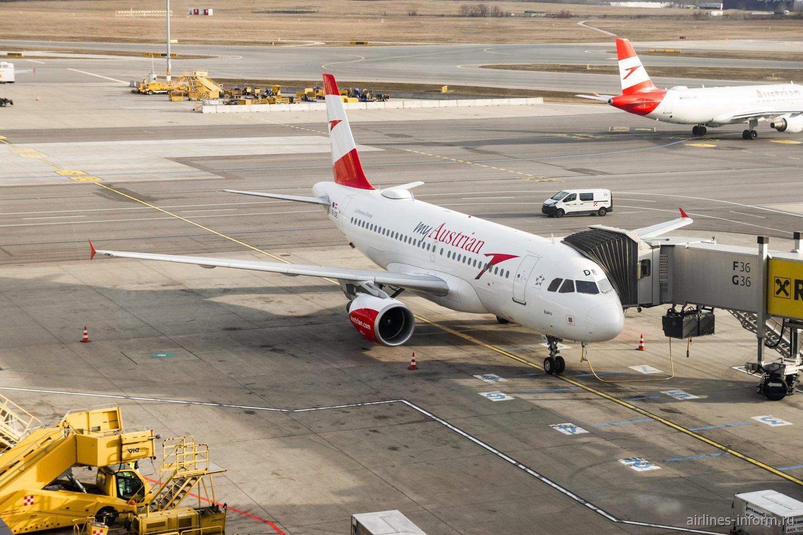 Airbus A319 OE-LDE авиакомпании Austrian в аэропорту Вены