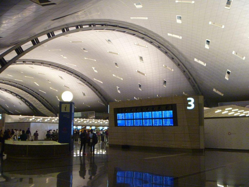 В пассажирском терминале аэропорта Доха Хамад