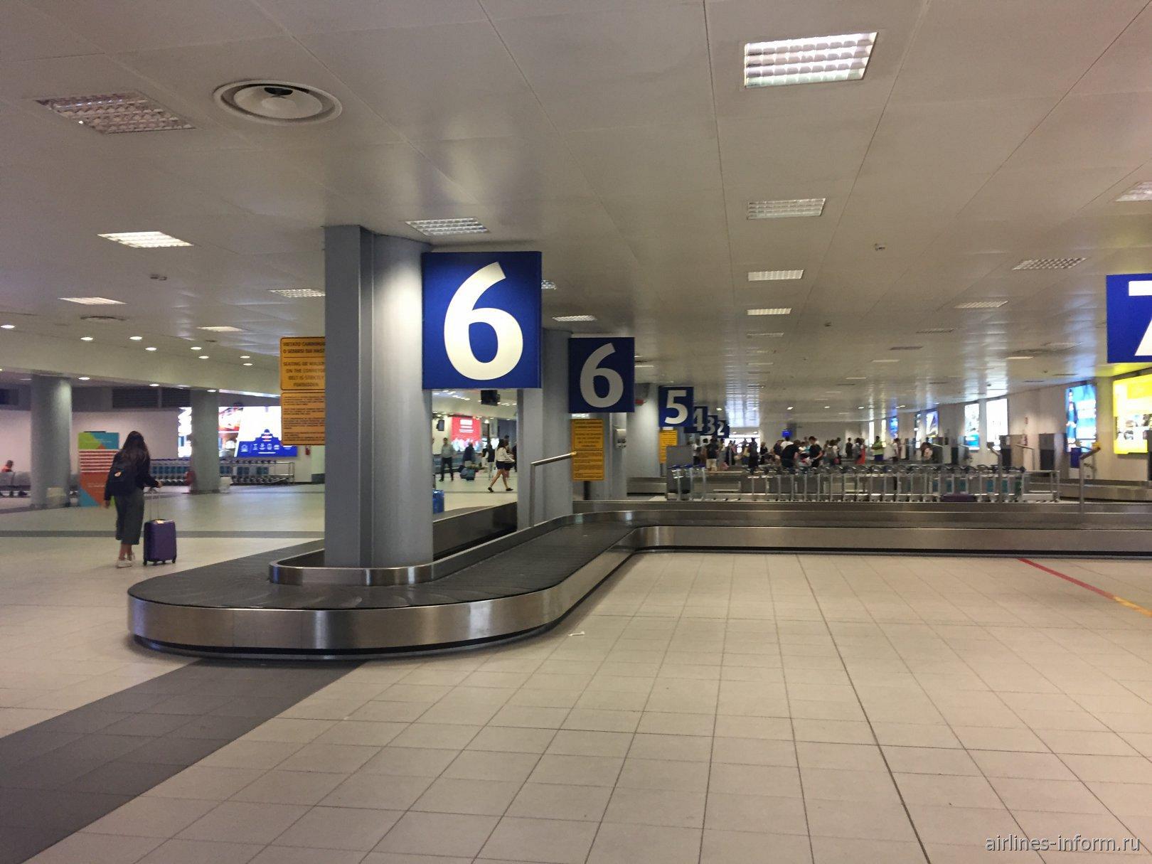 Зал выдачи багажа в аэропорту Турин