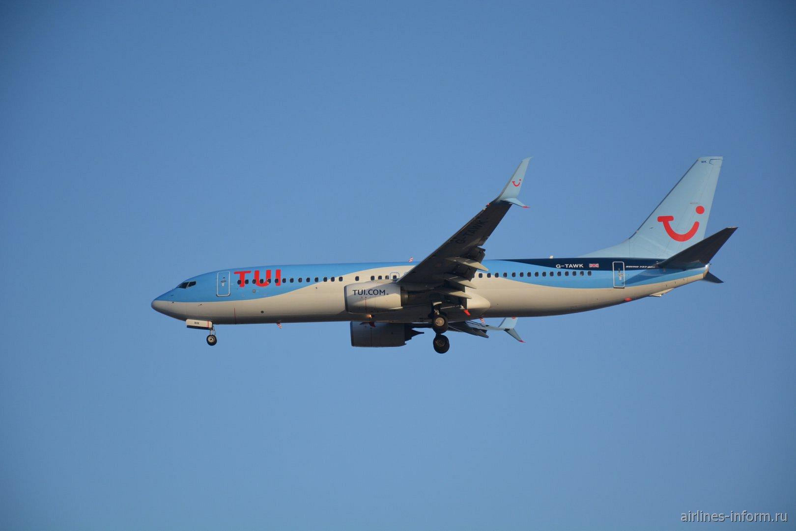Boeing 737-800 с номером G-TAWK авиакомпании Thomson Airways