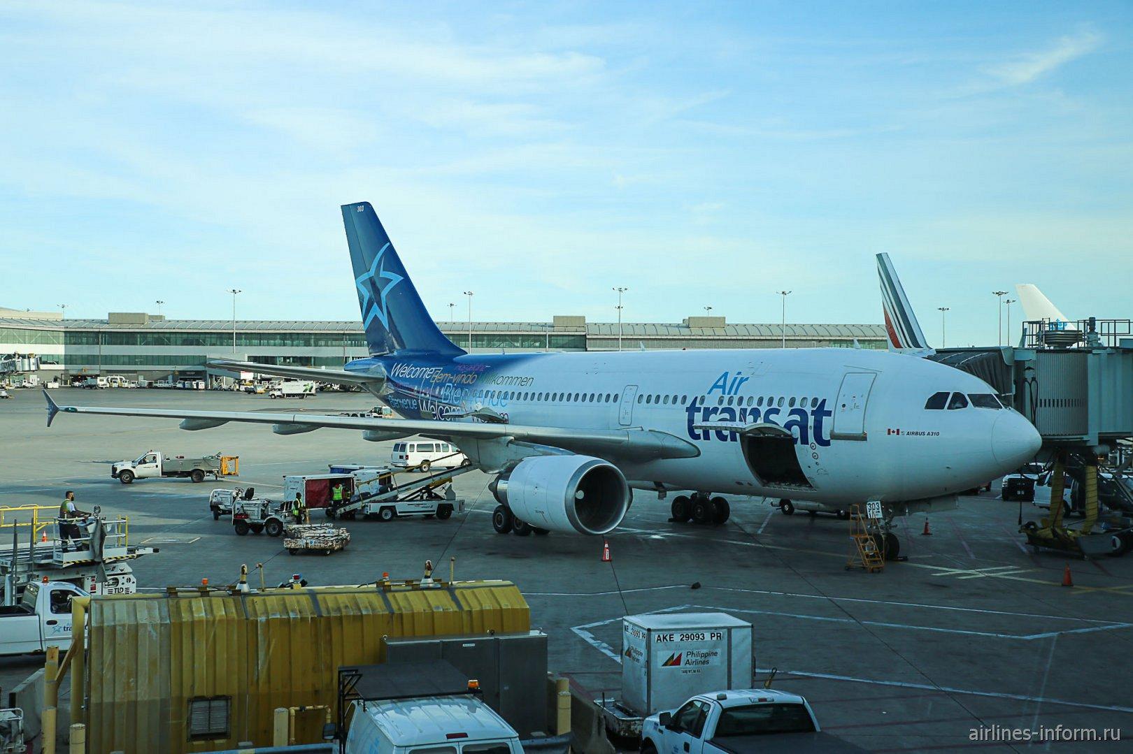 Airbus A310 авиакомпании Air Transat в аэропорту Торонто Пирсон