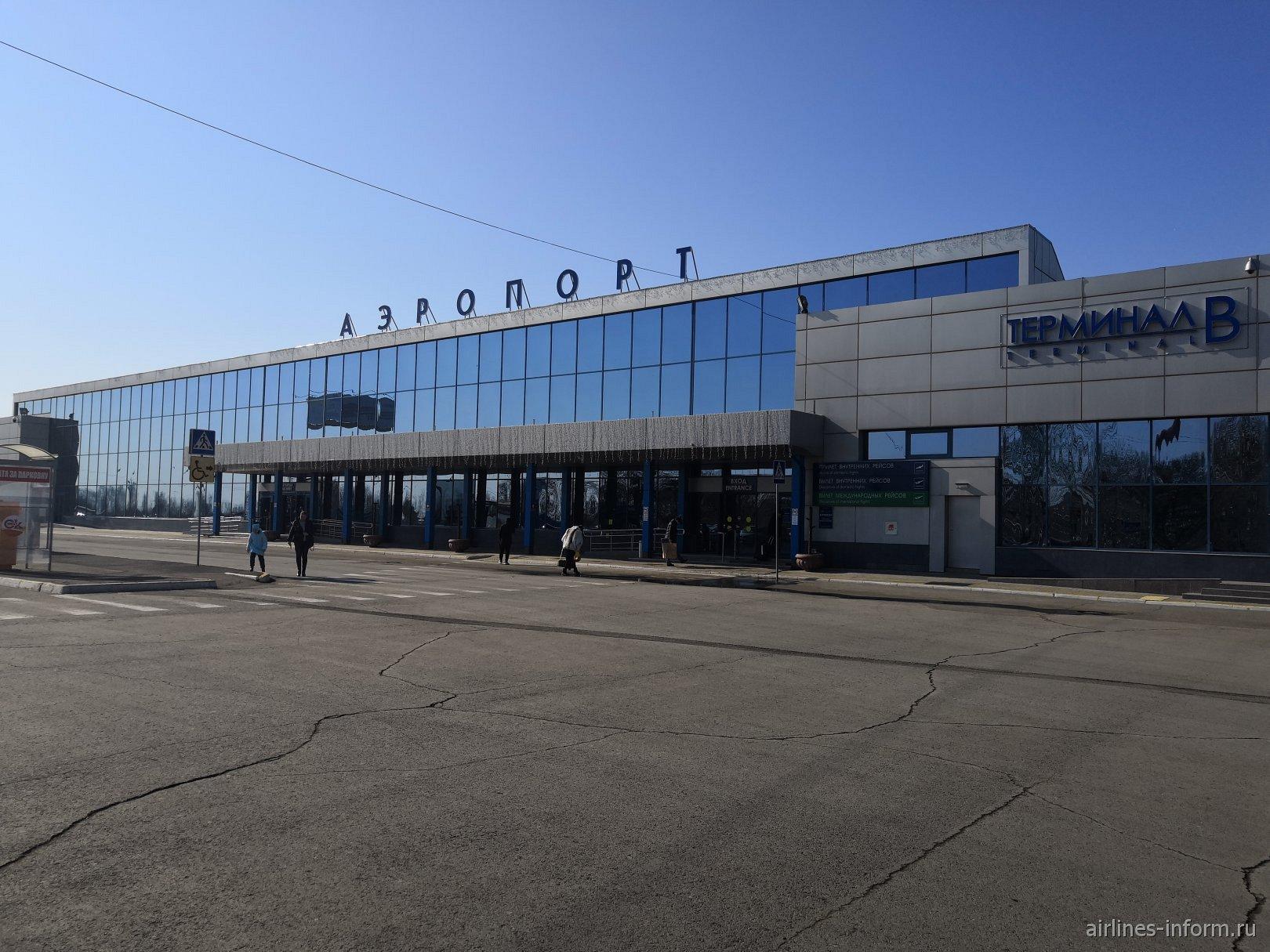 Терминал В внутренних авиалиний аэропорта Омск Центральный
